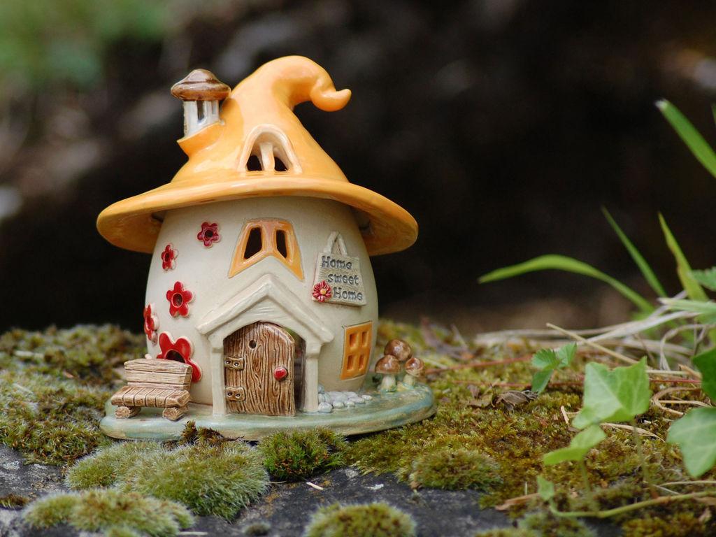 Домики для фей: волшебные керамические подсвечники Antje Rosemann, фото № 16