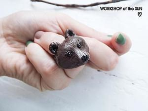 How to Tame a Bear: Modeling a Ring of Polymer Clay. Livemaster - handmade