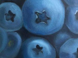 Рисуем картину маслом «Голубика». Ярмарка Мастеров - ручная работа, handmade.
