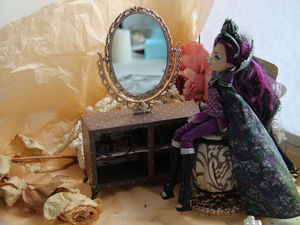 Мастерим туалетный столик и пуфик для кукол. Часть 1. Ярмарка Мастеров - ручная работа, handmade.