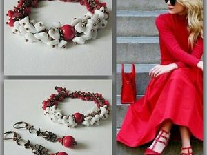 Анонс! Новый комплект Белое и красное от Olga Gardenia. Ярмарка Мастеров - ручная работа, handmade.