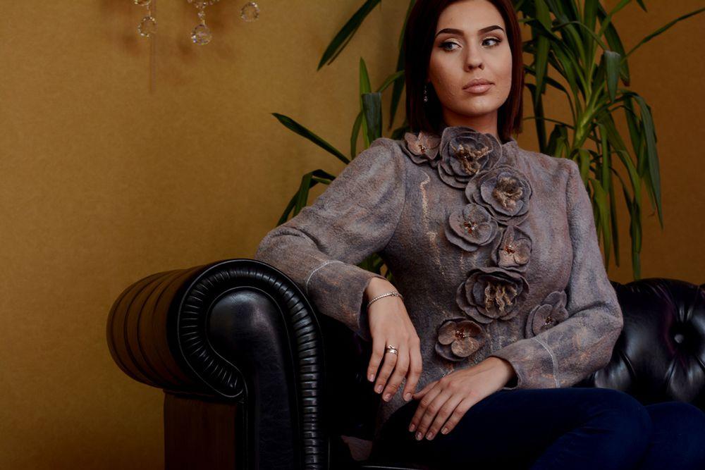 дизайнерская одежда, жакет из шерсти