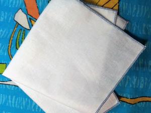 Обрабатываем носовой платок ролевым швом. Ярмарка Мастеров - ручная работа, handmade.