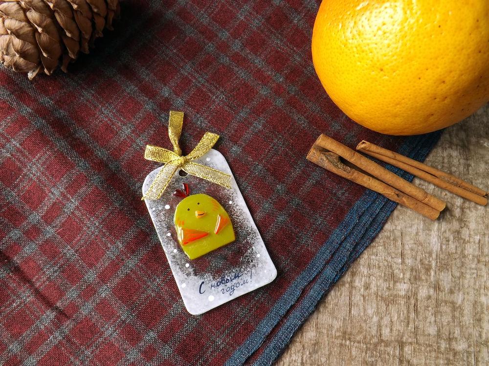 петух, новогодние подарки, открытка