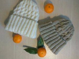 Акция! Скидка 30% на шапочки с отворотом   Ярмарка Мастеров - ручная работа, handmade