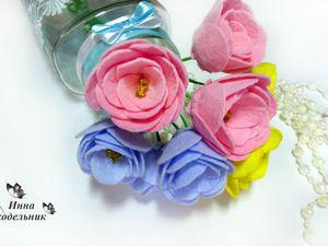 Букет роз из фетра своими руками: видео мастер-класс. Ярмарка Мастеров - ручная работа, handmade.