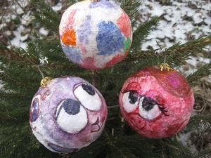Делаем вместе с детьми ватные ёлочные шарики. Ярмарка Мастеров - ручная работа, handmade.