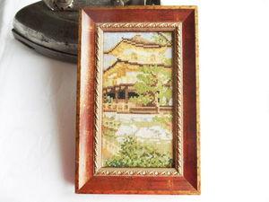 Щедрый аукцион. Пагода. Ручная вышивка крестом. Ярмарка Мастеров - ручная работа, handmade.