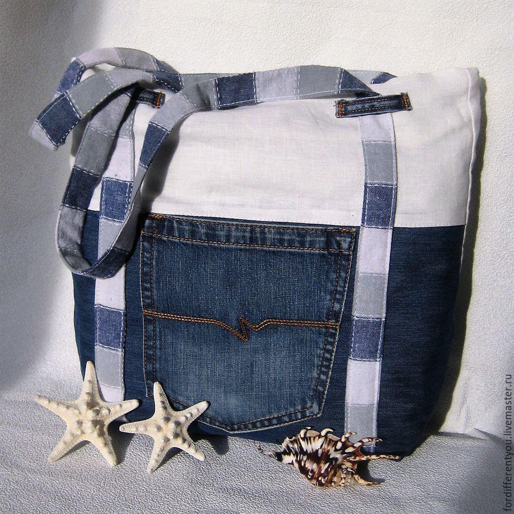 Оригинальная пляжная сумка своими руками 42
