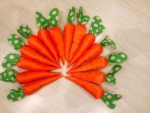 Шьем яркую морковку. Ярмарка Мастеров - ручная работа, handmade.