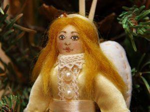 Рождественский Ангелочек: создаем ёлочную игрушку - текстильную куколку. Ярмарка Мастеров - ручная работа, handmade.