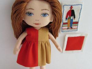 Как сделать волосы из ниток текстильной кукле. Ярмарка Мастеров - ручная работа, handmade.
