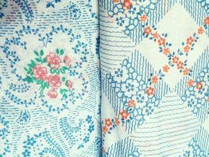 Экспресс-аукцион на ситец винтажный. Ярмарка Мастеров - ручная работа, handmade.