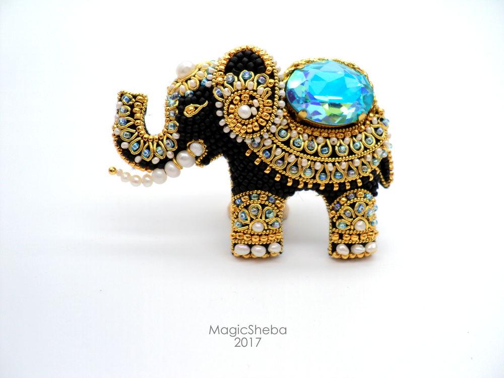 Мастер-класс двухдневный - брошь «Индийский слон», фото № 1