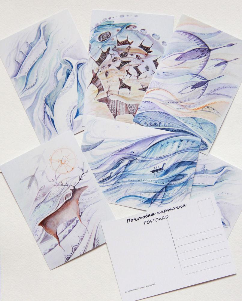 авторская открытка, петроглифы