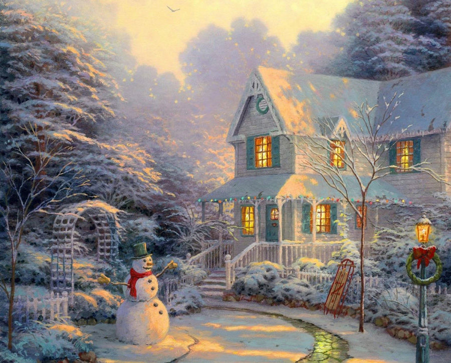 Смотреть сказочные картинки зимние