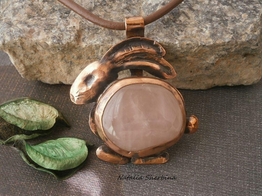 новинка, металлическое украшение, колье с розовым кварцем