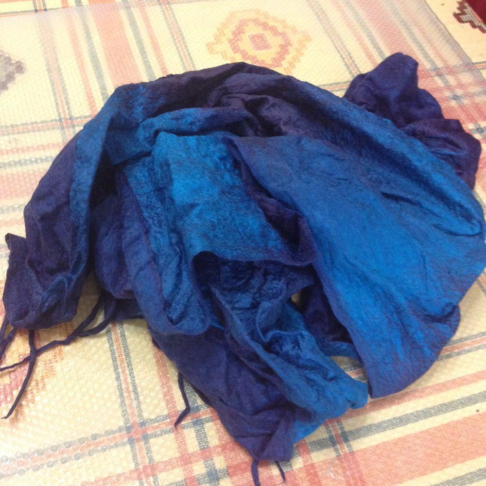 Отчет о мастер-классе. Валяем мужской шарф с Юлией Левшиной, фото № 14