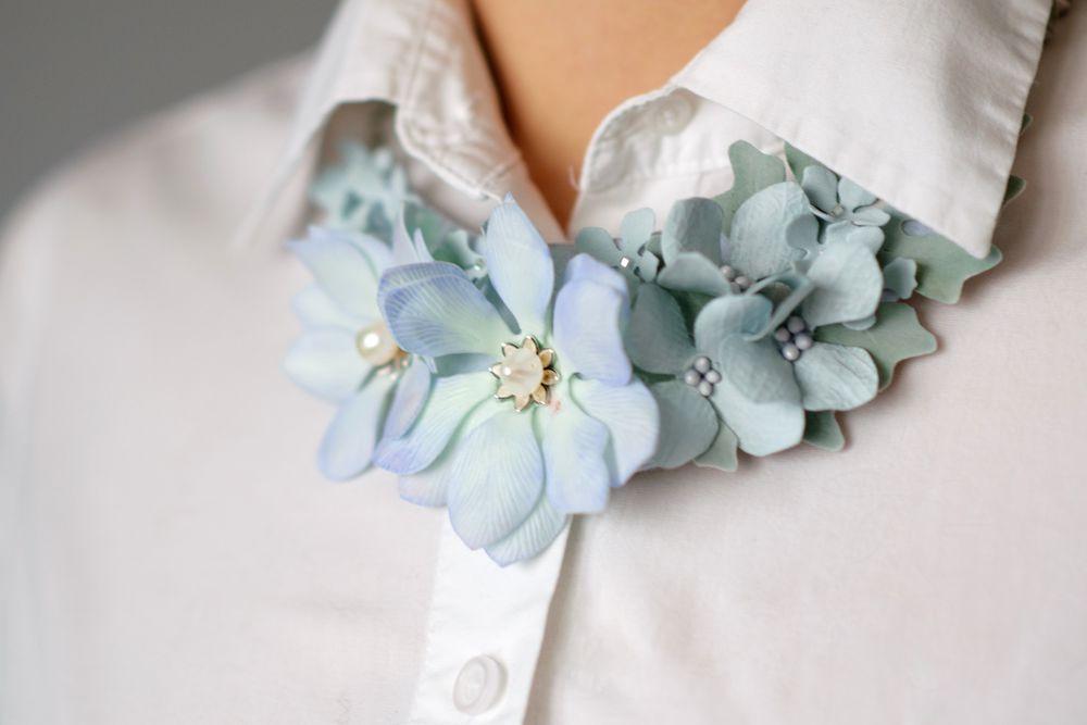колье, ожерелье с цветами, на работу, подарок девушке