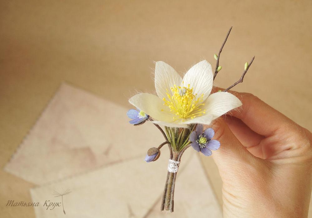 цветочное украшение, брошь мак прованс