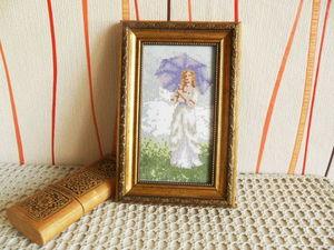 Аукцион на лидера просмотров июня. Вышитая картина Прогулка. Ярмарка Мастеров - ручная работа, handmade.