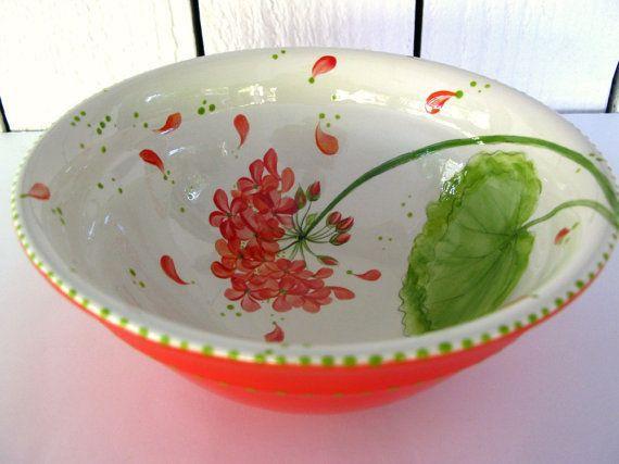 Lovely Geranium Bowl