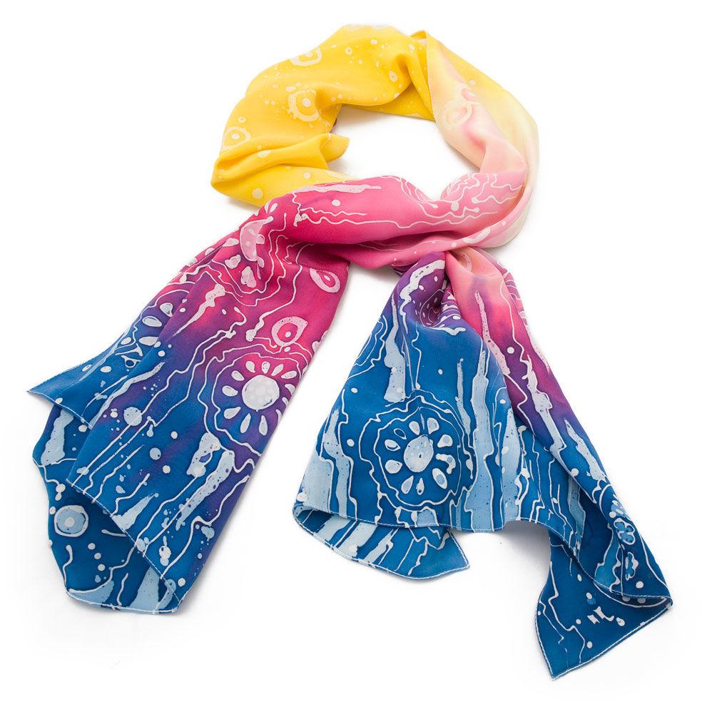 крепдешиновый шарф