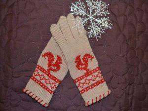 Перчатки с вышивкой «Петушок»: мастер-класс. Ярмарка Мастеров - ручная работа, handmade.