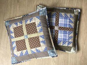 Лоскутные подушки — новинка в моем магазине. Ярмарка Мастеров - ручная работа, handmade.