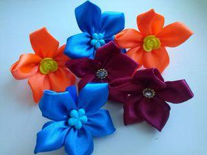 Канзаши для начинающих: самый простой цветок. Видеоурок. Ярмарка Мастеров - ручная работа, handmade.