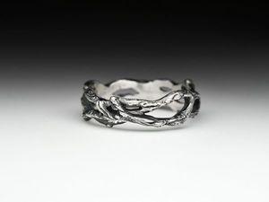 Аукцион серебряное кольцо Ветка с 1 руб. 24 мая 2018 до 22.00. Ярмарка Мастеров - ручная работа, handmade.