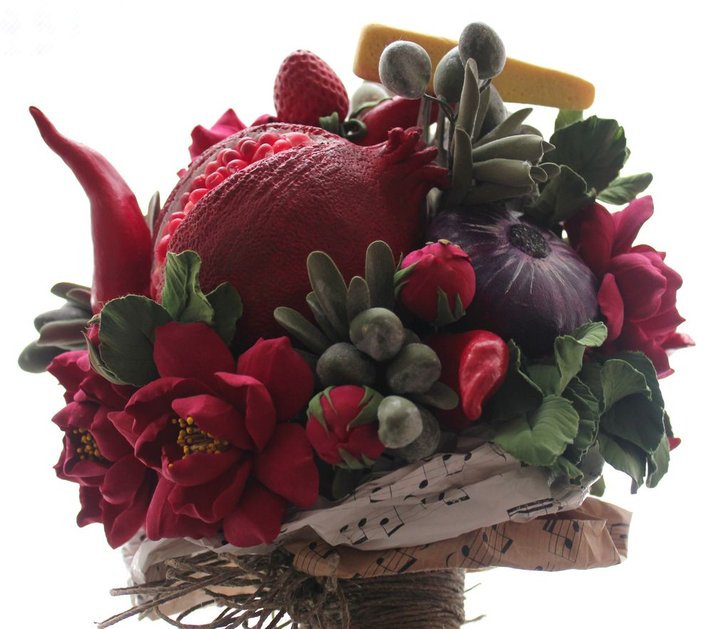 цветочно-овощной букет