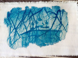 Цианотипия на ткани. Ярмарка Мастеров - ручная работа, handmade.