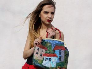 Валяная сумка с городом!. Ярмарка Мастеров - ручная работа, handmade.