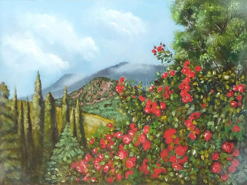 акция ко дню знаний, картины маслом, картина в интерьер, картина цветы, пейзаж акварелью