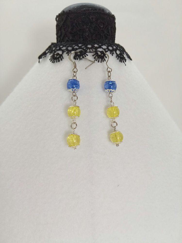 сережки, фурнитура под серебро, синий цвет, новое украшение, стильные украшения, модные украшения