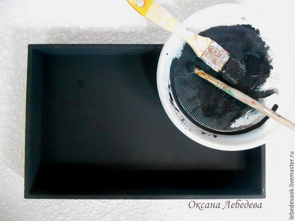 Decorating a Wooden Tray in the French Vintage Style, фото № 3