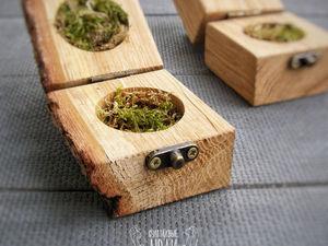 Коробочки для колец из натурального дерева. Ярмарка Мастеров - ручная работа, handmade.