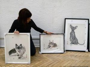 """Питер! Мои картины на II Международной выставке """"Портрет кошки"""" с 4 по 21 октября 2018. Ярмарка Мастеров - ручная работа, handmade."""