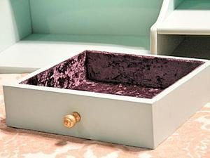 How to Glue Velvet inside a Drawer or Jewely Box. Livemaster - handmade
