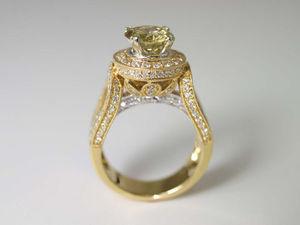 Эксклюзивное кольцо! Шампанский Бриллиант & Розовое золото 18k | Ярмарка Мастеров - ручная работа, handmade