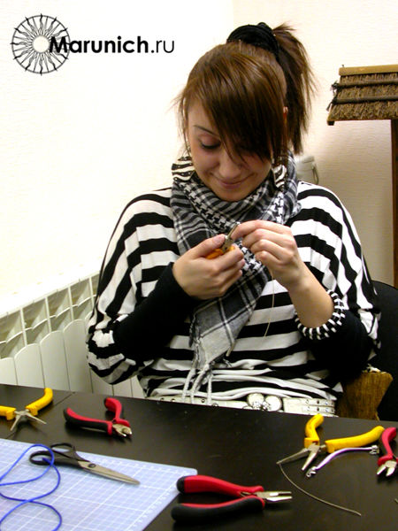 полимерная глина уроки для начинающих, украшения своими руками, авторские украшения, марунич, цветы из пластики