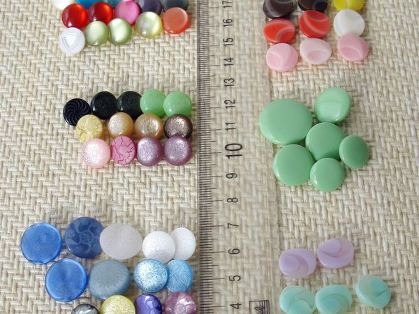 Снова в магазине - маленькие цветные пуговицы на ножке в 6 наборах. | Ярмарка Мастеров - ручная работа, handmade