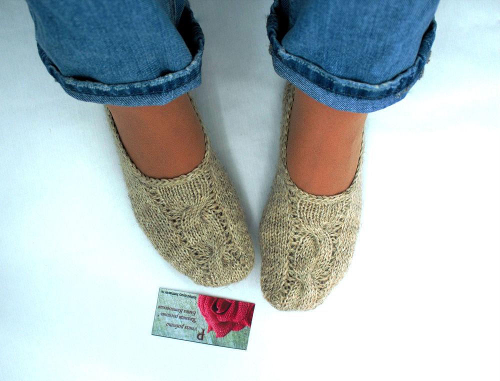 вязаные следки, тёплые носочки, следки-носки