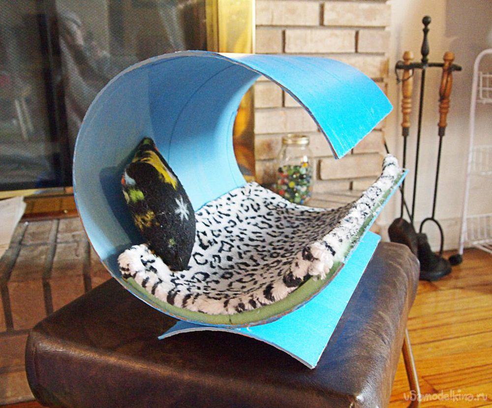 Как в домашних условиях сделать домик для кота