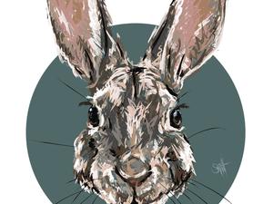 """День 78. Векторная графика """"Кролик"""". Ярмарка Мастеров - ручная работа, handmade."""