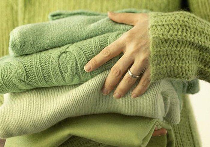 как гладить вязаные вещи