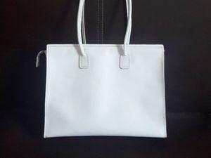 Белая женская сумка с подкладом. Ярмарка Мастеров - ручная работа, handmade.