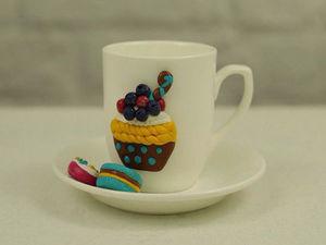 Видеоурок: декор чайного набора полимерной глиной. Ярмарка Мастеров - ручная работа, handmade.