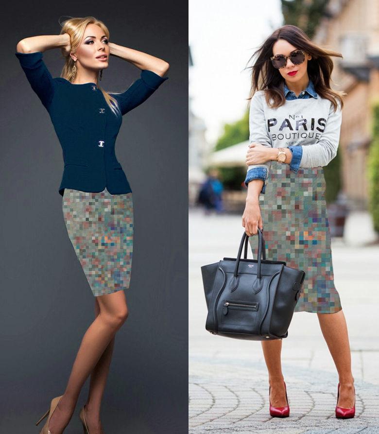 прямая юбка, юбка для девушки, юбка миди, юбка для офиса, цветочный